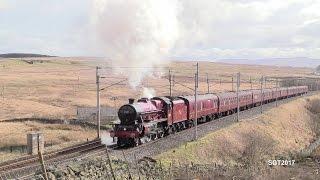 LMS 45699 Destroys Shap on the Winter Cumbrian Coast Express 4/3/17.