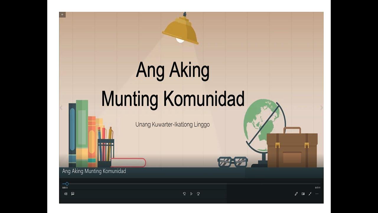 hight resolution of Araling Panlipunan 2 MELC- Q1 Week 3}:Ang Aking Munting Komunidad - YouTube