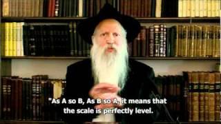 Parshat Emor 5771 ● Balancing the scales ● Harav Yitzchak Ginsburgh