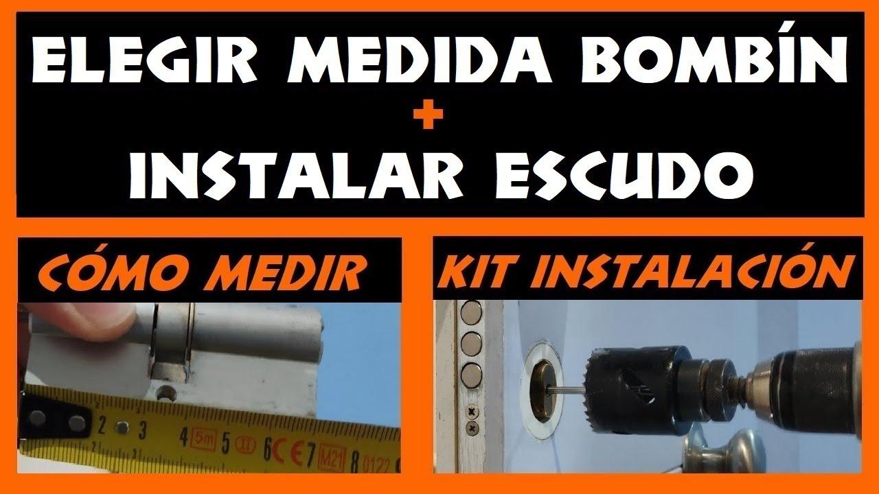 COMO MEDIR EL BOMBIN + INSTALAR ESCUDO SEGURIDAD [KIT INSTALACION ESCUDO] [CAMBIAR BOMBIN CERRADURA]