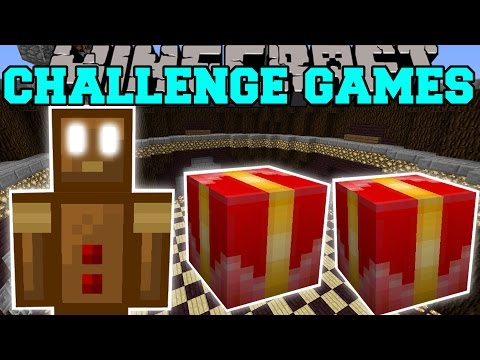 Minecraft: GINGERBREAD MAN CHALLENGE GAMES - Lucky Block Mod - Modded Mini-Game