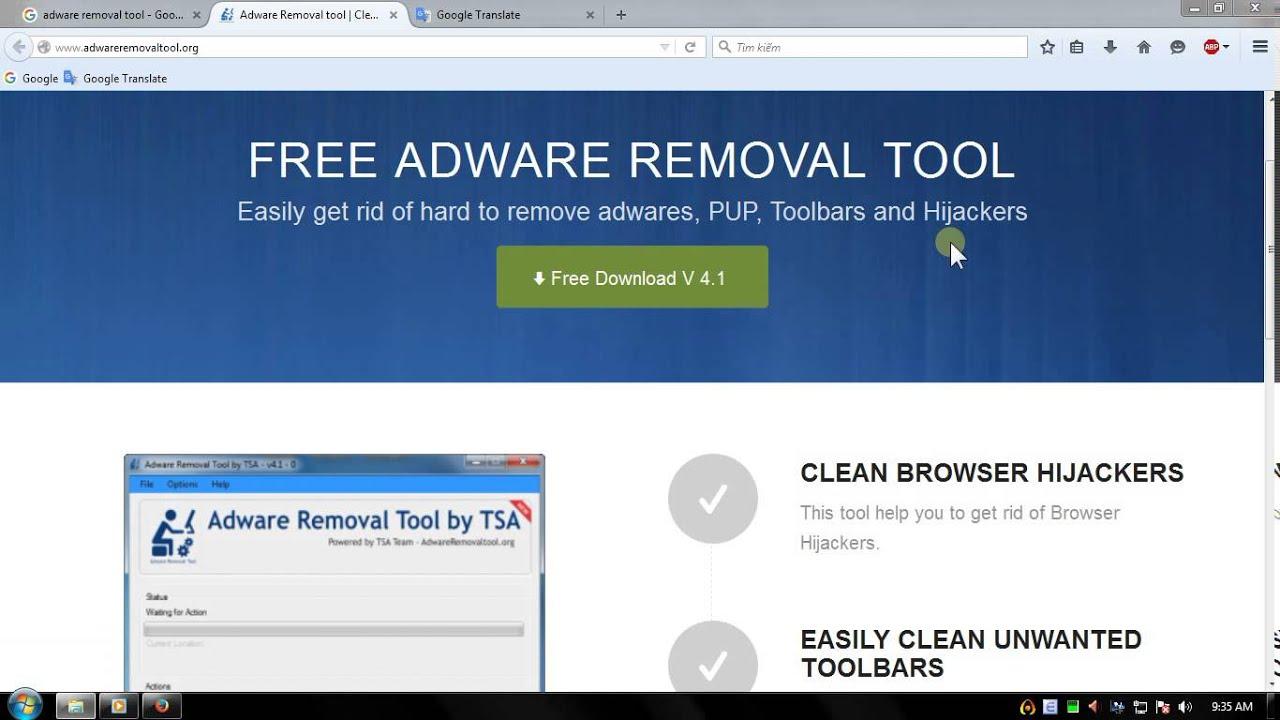 Diệt Adware bằng AdwareRemovalTool