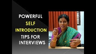 POWERFUL  SELF  INTRODUCTION TIPS - IN ENGLISH