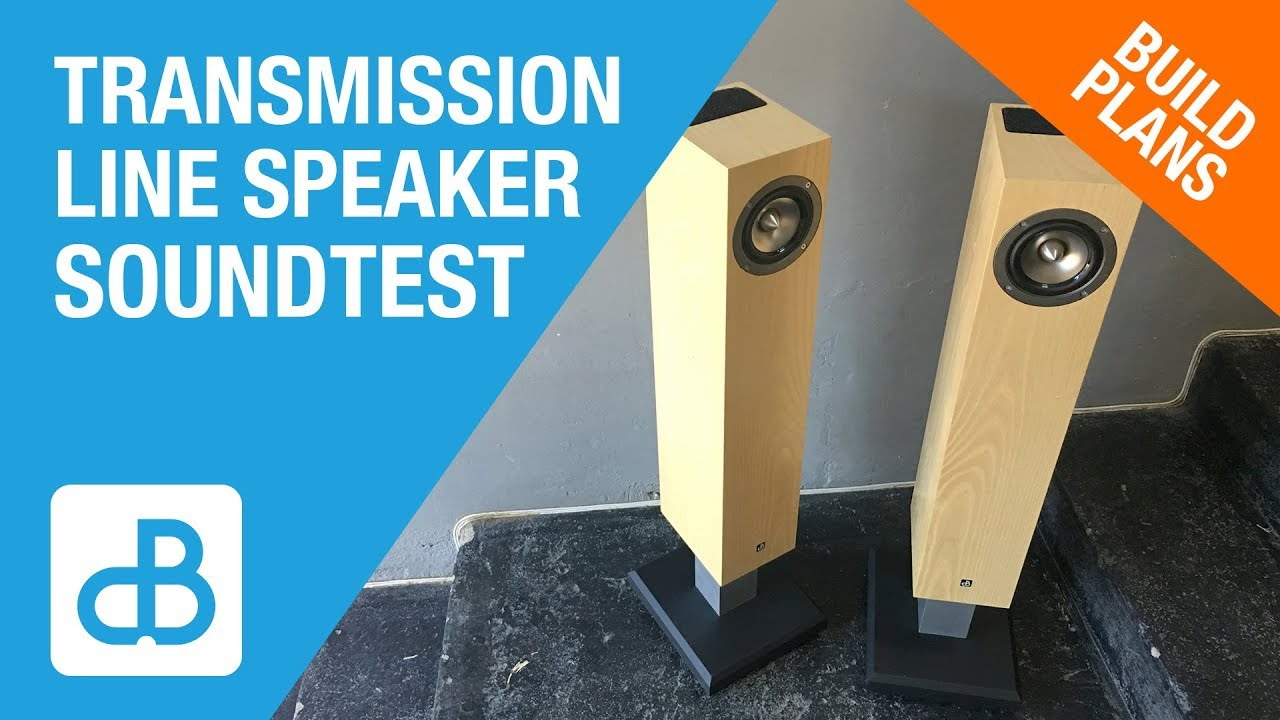 Transmission Line Speaker Build SOUND TEST - by SoundBlab