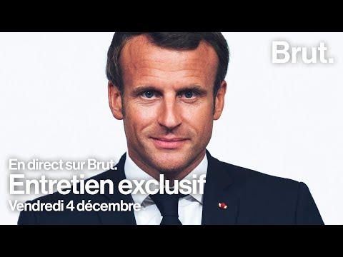Entretien exclusif : Emmanuel Macron répond à Brut