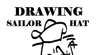 How to draw a SAILOR HAT Step by Step EASY-Popeye hat | draw easy stuff but cool on paper