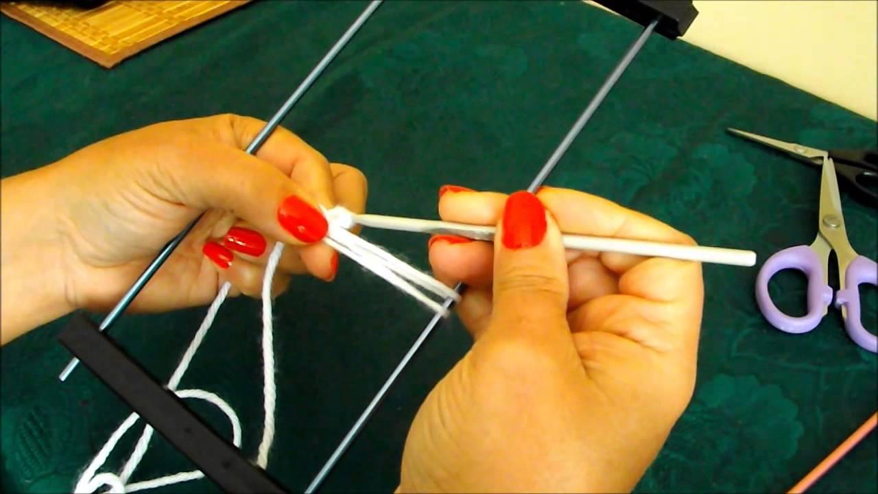 Como tejer con horquilla para principiantes - con Ruby Stedman. - YouTube a410fa2f4d0