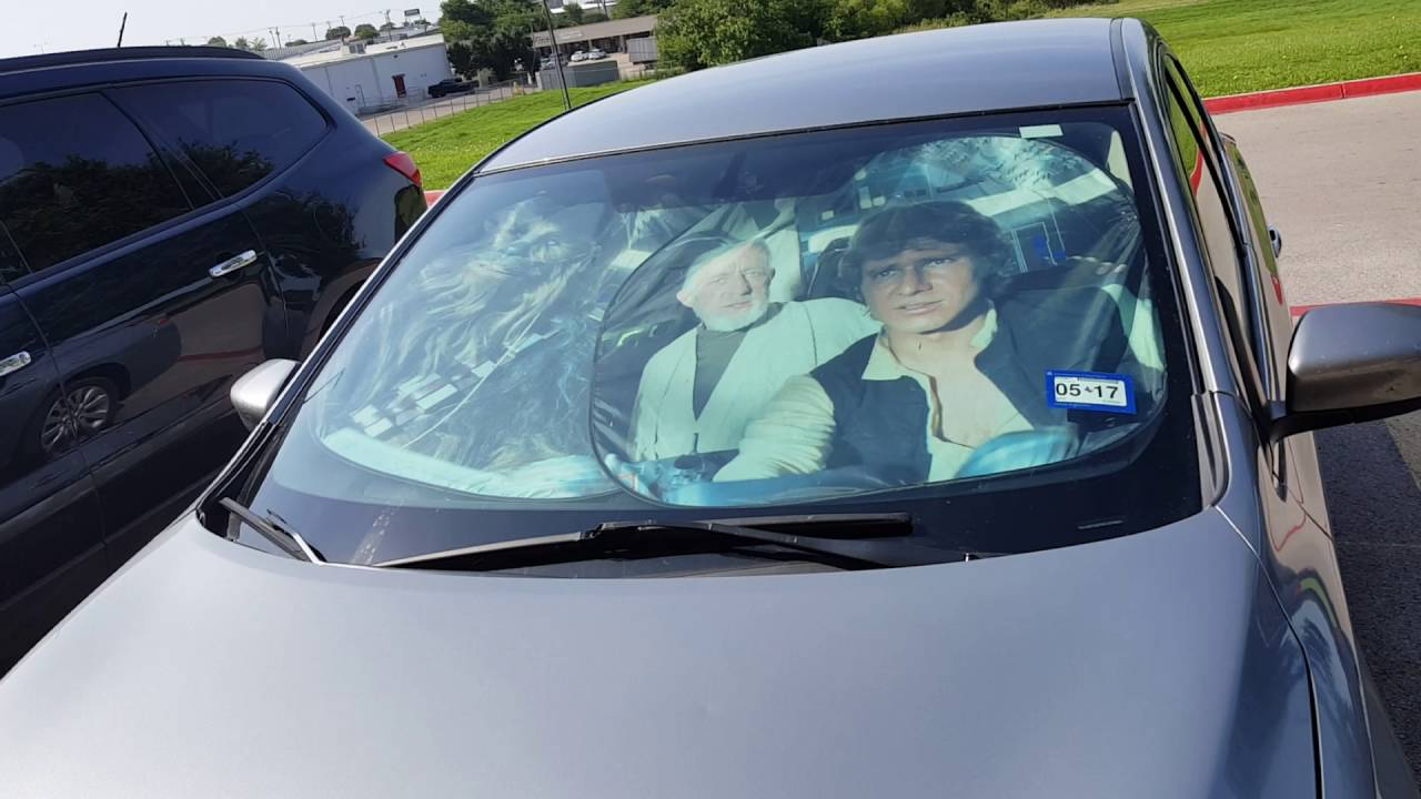 Star Wars sunshade - YouTube 366dd0a0546