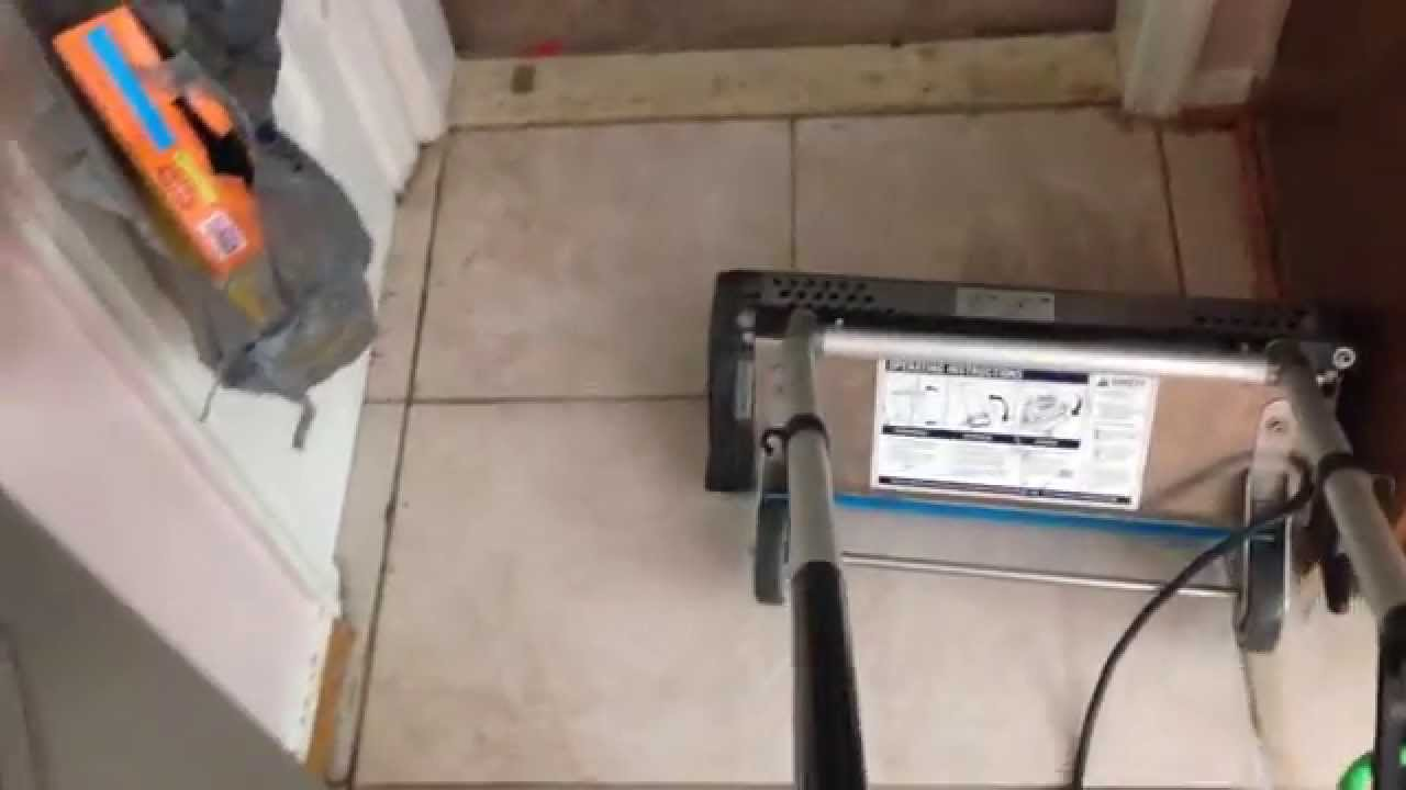 Tile and grout Cleaning using Whittaker CRB machine ...