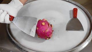 DRAGON Fruit Ice Cream Rolls l How To Make Ice Cream Rolls With Dragon Fruit l Live Ice Cream Rolls