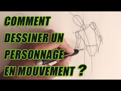 Comment dessiner un personnage croquis en mouvement youtube - Comment dessiner un but de foot ...
