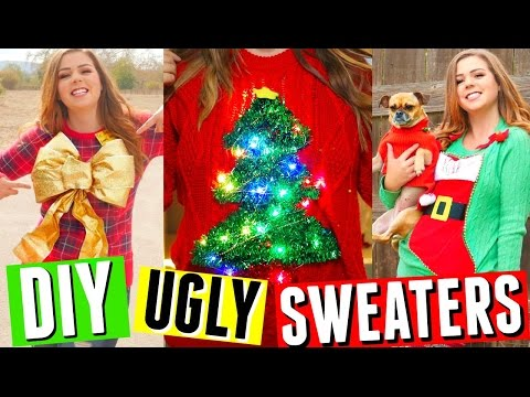 Diy Christmas Sweaters Sweater With Lights Stocking Christmas Tree More Ideas