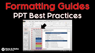 PowerPoint Best Practices Using Formatting Guides