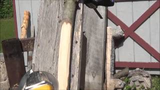 How To Wood Carve A Walking Stick With Power. Starting Your Project.