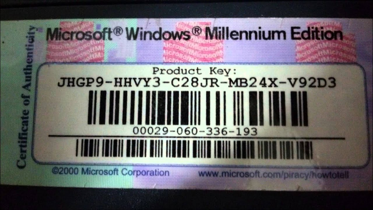 windows 98 product key list