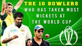 10 Bowlers with Most wickets in World cup