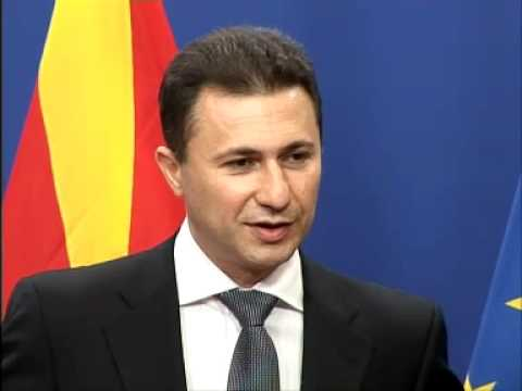 Press point with PM of the former Yugoslav Republic of Macedonia