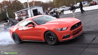 angry turbo s550 mustang rolls to 8s on irs