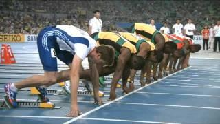 Usain Bolt faux départ disqualification 100m Final championnat du monde d