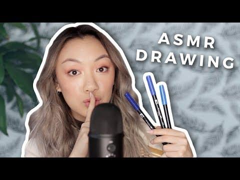 ASMR DRAWING | Calligraphy + Sketching for Relaxing! thumbnail