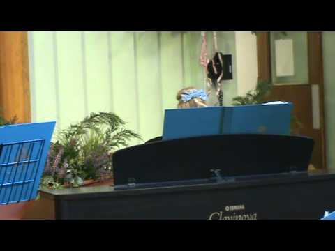 Piano solo at Blackwood Comprehensive School