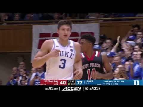 St  Francis PA vs Duke College Basketball Condensed Game 2017
