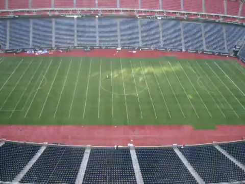 Reliant Stadium field from Soccer to NFL Football Timelapse