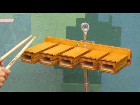 wood blocks - Temple blocks.
