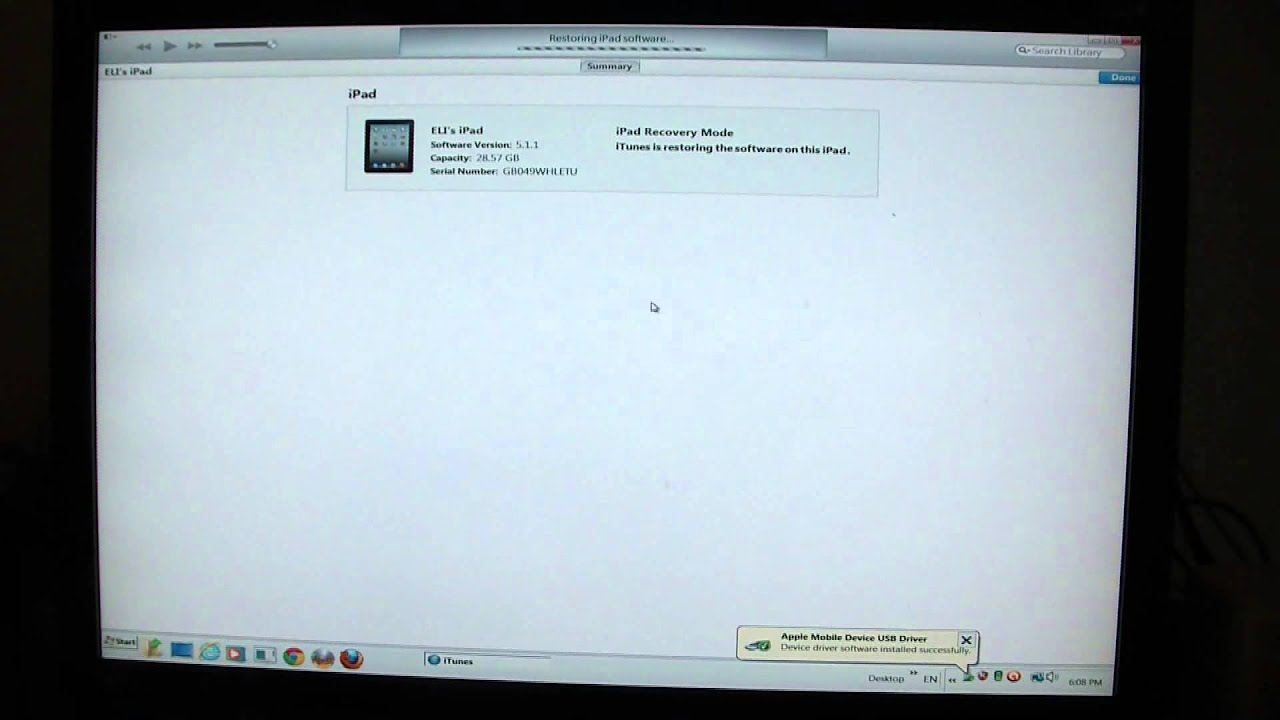 How To Restore An iPad To Factory Settings - YouTube