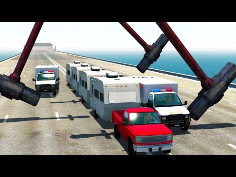 CARAVAN POLICE CHASE THROUGH GIANT SLEDGEHAMMERS - BeamNG Drive Police Chase from YouTube · Duration:  14 minutes 23 seconds