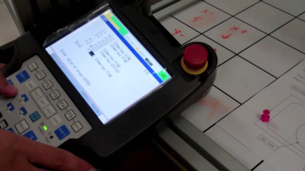 How to write a program for fanuc robot controller