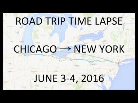 ROAD TRIP Timelapse - Chicago → New York