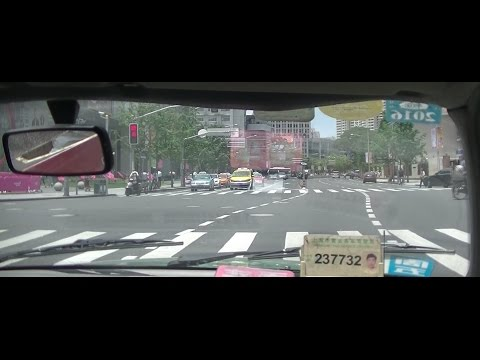 Driving Through the Streets of Shanghai, China