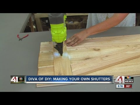Charmant Diva Of DIY: Making Your Own Shutters   YouTube