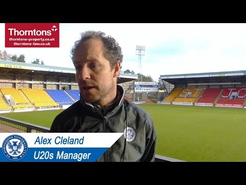 Alex Cleland Pre Match U20s v Rangers   15-1-18