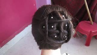 Trendy Updo Juda Hairstyle for Party #  Romantic Bun Hairstyle#Elegant BUN Hairstyle#Hair Tutorial