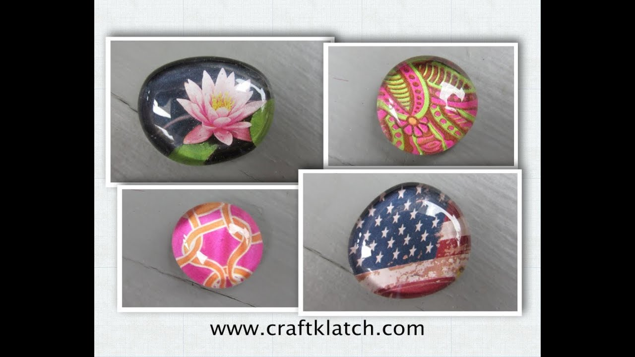 Easy Glass Picture Stone Magnets Craft Make Something