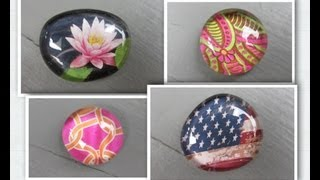 Easy Glass Picture Stone Magnets Craft  Make Something Monday