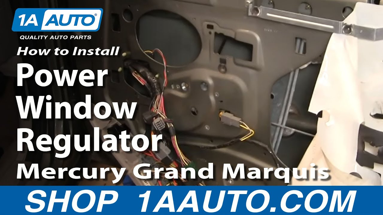 How to install replace rear power window regulator crown for 1995 mercury grand marquis power window repair