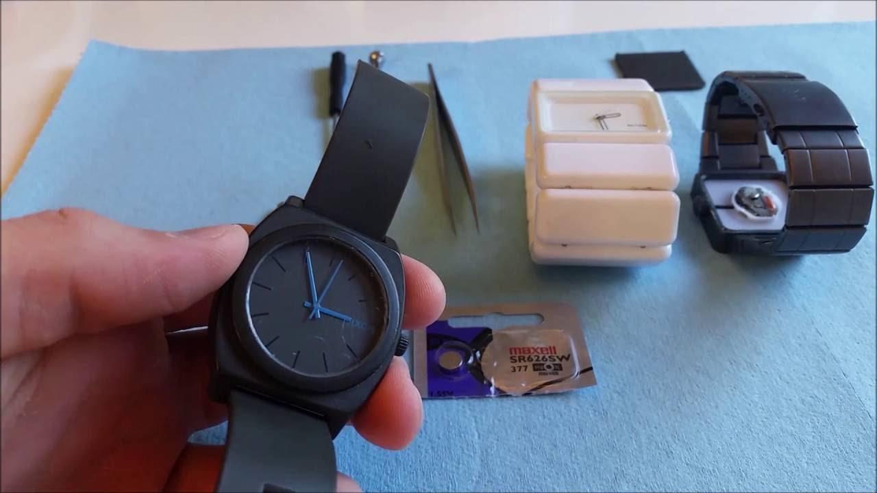 nixon watch battery replacement time teller vega quatro etc youtube. Black Bedroom Furniture Sets. Home Design Ideas