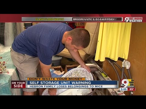 A warning if you use self-storage units