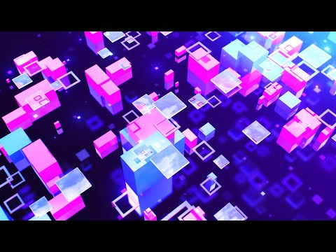 Abstract Modern Geometric Bright Colorful 3D Background Of Flying Rectangles   Free Version Footage