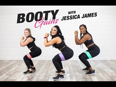 GET YOUR BOOTY GAINS WITH JESSICA JAMES DVD/DIGITAL COPY WITH BANDS NOW!!!!
