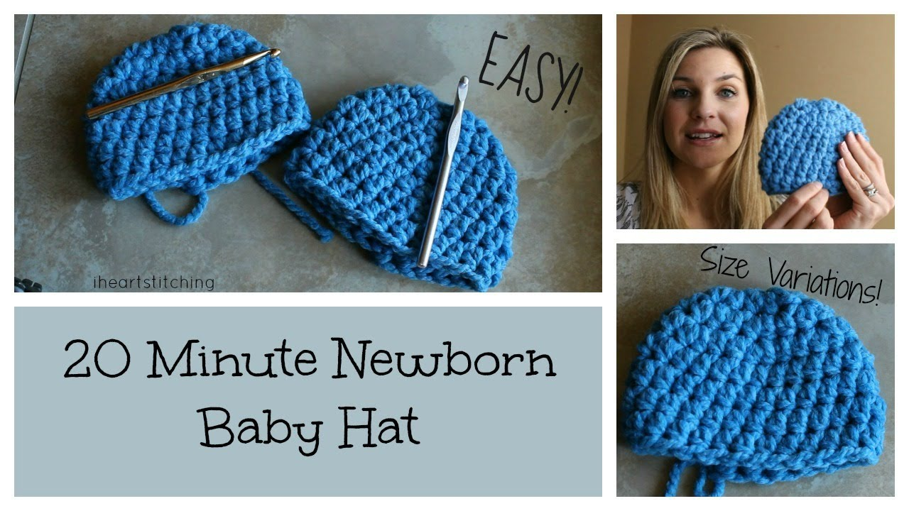 20 minute newborn crochet beanie youtube bankloansurffo Images