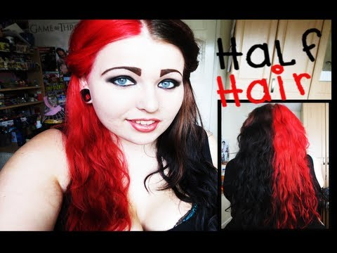Bleaching And Dying Half & Half Hair (Brown&Red) | Jessie ...