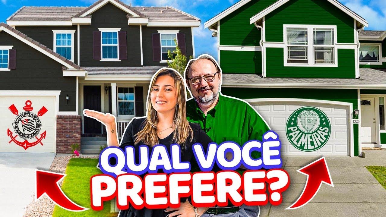 Qual CASA dos EUA vc prefere ? A casa Corinthians ou Palmeiras