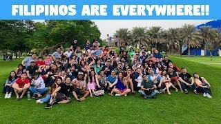 FILIPINO WORKERS IN DUBAI HAVING FUN! (BecomingFilipino OFW)