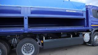 Автомобиль  специальный (самосвальный) 689061-20 на шасси Скания с прицепом 85300А(Автопоезд самосвальный предназначен для перевозки сыпучих грузов, оборудован разгружающей на две стороны..., 2013-05-07T10:17:39.000Z)