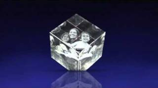 3D Photo Crystal Cube from 3DLaserGifts.com