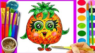 teach Drawing Fruit to Kids Coloring Pages for Learning Colors